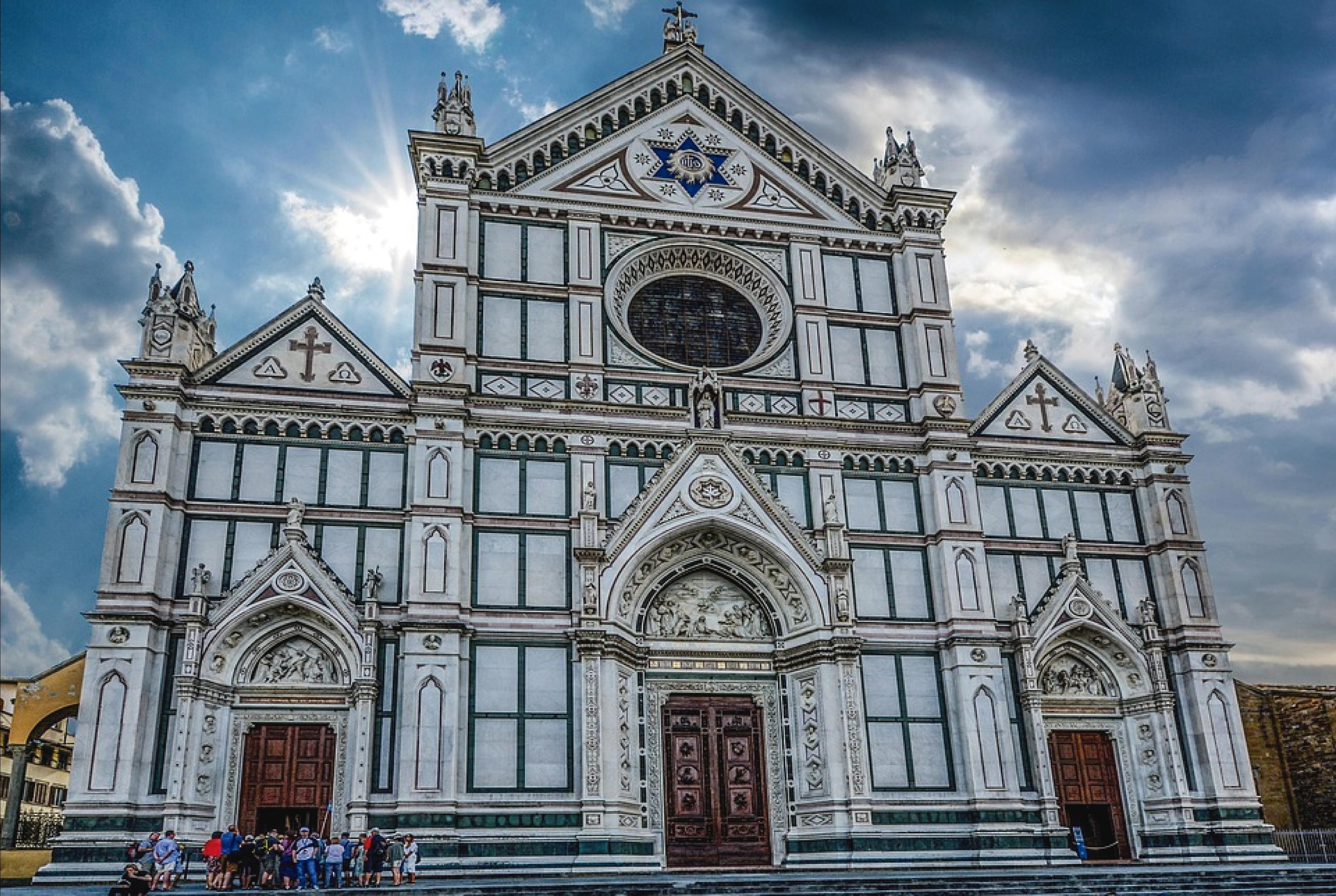 Fotografía de la básilica de la Santa Croce, en Florencia