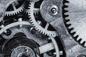 Engranajes como carátula de un capítulo de A Ciencia Cierta: Ciencia vs Tecnología