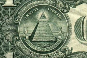 Billete de un dolar americano como carátula de un capítulo de A Ciencia Cierta: Ciencia y conspiraciones