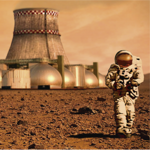 Representación artística de una colonia marcianacarátula de un capítulo de A Ciencia Cierta: Colonización espacial