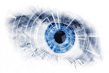 Ojo biónico como carátula de un capítulo de A Ciencia Cierta: Inteligencia Artificial