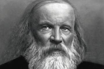 Fotografía de Dimitri Mendeleiev como carátula de un capítulo de A Ciencia Cierta: La Tabla Periódica