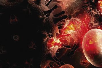 Representación artística del VIH como carátula de un capítulo de A Ciencia Cierta: La verdad sobre el SIDA