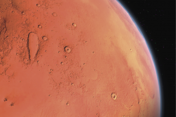 Fotografía de Marte como carátula de un capítulo de A Ciencia Cierta: Marte El planeta Rojo