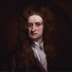 Retrato de Sir Isaac Newton como carátula de un capítulo de A Ciencia Cierta: Newton
