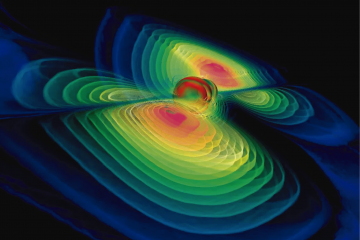 Representación de ondas gravitacionalescomo carátula de un capítulo de A Ciencia Cierta: Ondas gravitacionales