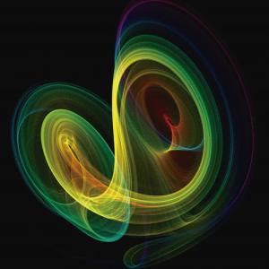 Diagrama de fases de un atractor de Lorenz carátula de un capítulo de A Ciencia Cierta: Teoría del caos. Efecto mariposa