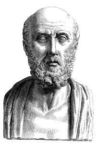 Retrato anónimo de Hipócrates de Cos.