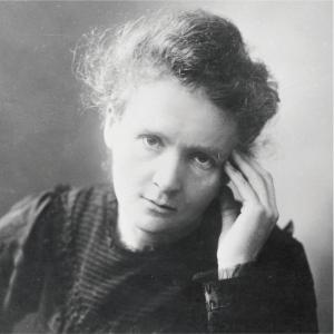 Fotografía de Marie Curie como carátula de un capítulo de A Ciencia Cierta: Marie Curie