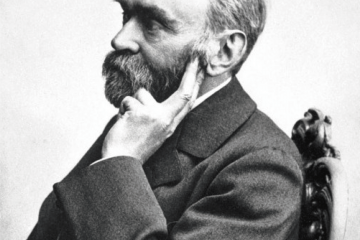 Fotografía de Alfred Nobel pensativo como carátula de un capítulo de A Ciencia Cierta: Premios Nobel: Historia, curiosidades y análisis de los del 2018