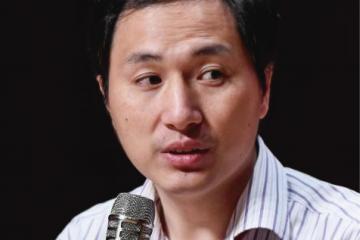 Foto de Jiankui He como portada del episodio de Coffe Break: Amartizaje de la Insight, entrevista a Leonard Susskind, CRISPR y las gemelas de China