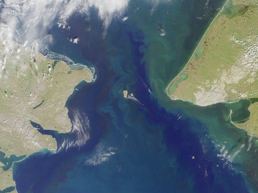 Estrecho de Bering (NASA)