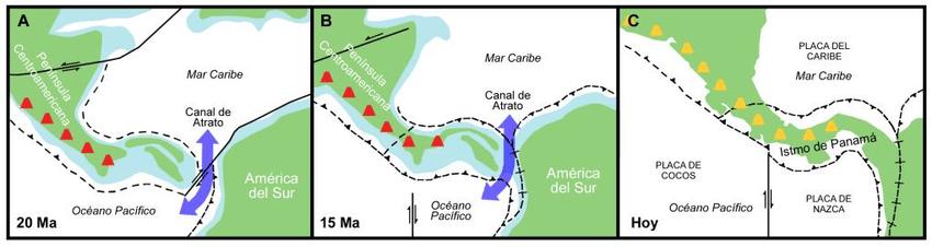 Nacimiento del istmo de Panamá (por Martín Felipe Chávez Hoffmeister)