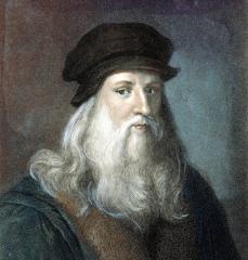 Autorretrato de Leonardo da Vinci como carátula del episodio Leonardo da Vinci de A Ciencia Cierta