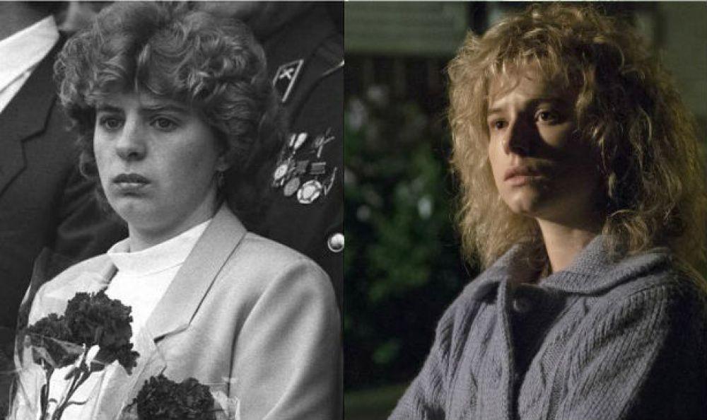 Lyudmilla Ignatenko y la actriz que la encarna en Chernobyl, Jessie Buckley