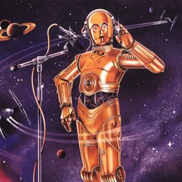 Cartel de radioficción como portada del programa de A Ciencia Cierta: La ciencia de Star Wars