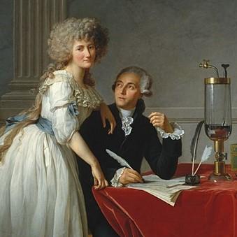 Retrato de los Antoine y Marie Lavoisier hecho por Jacques-Louis David como portada del episodio de A Ciencia Cierta: Lavoisier El Padre de la Química
