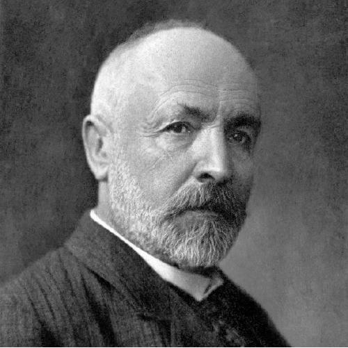 Fotografía en blanco y negro de Georg Cantor durante sus últimos años