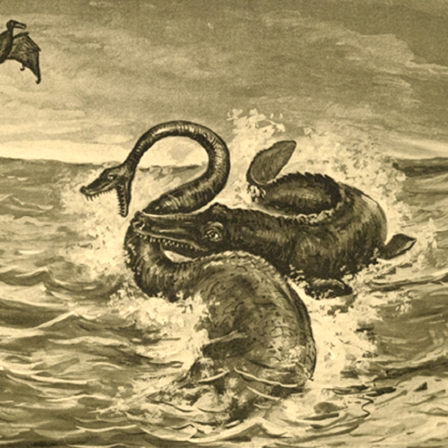 Ilustración de Viaje al centro de la Tierra como portada de un episodio de A Ciencia Cierta