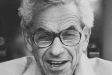 Fotografía de Paul Erdős como portada del episodio de A Ciencia Cierta Paul Erdős: La búsqueda de la belleza