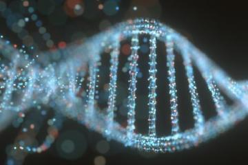 Reconstrucción artística de dos hebras de ADN como portada del vídeo de Diario de un MIR: ¿Un nuevo ADN humano?