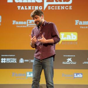 Fotografía tomada en la Alóndiga de Bilbao representando el monólogo