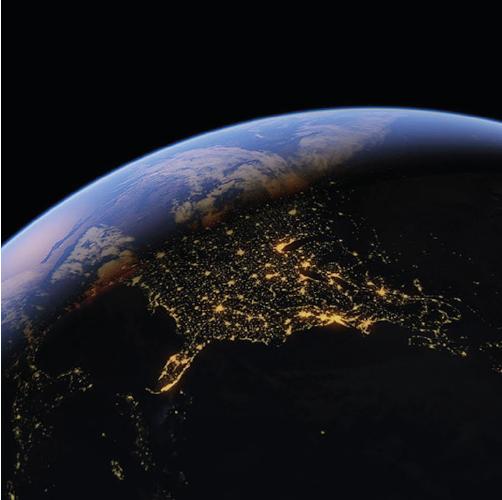 La Tierra de noche como portada del episodio de A Ciencia Cierta:¿Y ahora qué? Antes, durante y después de la pandemia